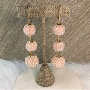 I.n.c. Beaded Sphere Triple Drop Earrings